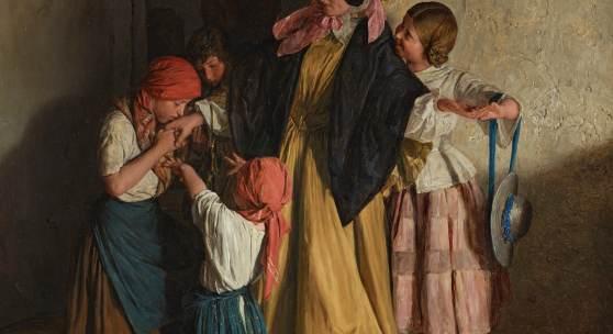 Georg Ferdinand Waldmüller, Der Abschied der Patin (Nach der Firmung), 1859, Belvedere, Wien, Leihgabe des Vereins der Freunde der Österreichischen Galerie Belvedere