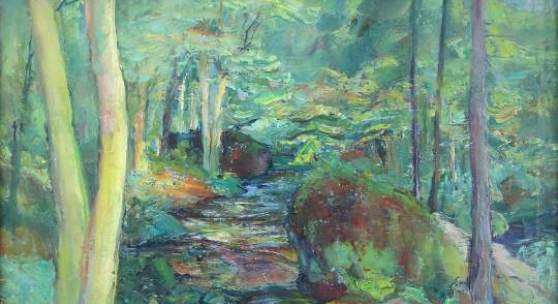 Oskar Kokoschka 'Die Quelle im Wald'
