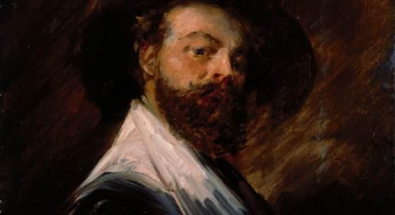 Wilhelm Busch, Selbstbildnis in holländischer Tracht, um 1870