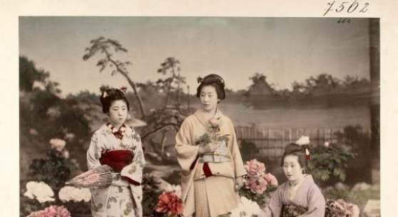 Yokohama-Fotografien, um 1890 Handkolorierte Albuminabzüge © Weltmuseum Wien