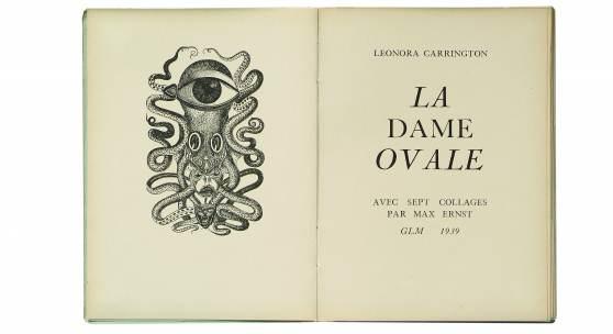 [3946] Max Ernst Frontispiz zu La dame ovale/Die ovale Dame von Leonora Carrington, 1939, einem Buch mit acht Reproduktionen nach Collagen von Max Ernst Sammlung Würth © VG Bild-Kunst, Bonn 2020