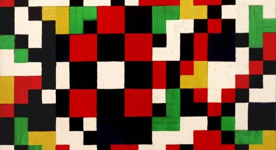 3 H.Joos Rasterbild farbig 2002 Farblithographie 39,7 x 39,7 cm