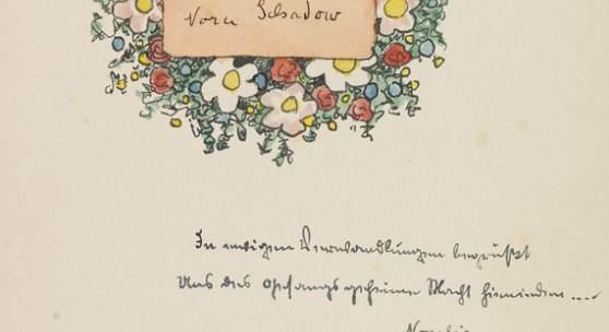 109 HERMANN HESSE Piktors Verwandlungen. Orig.-Manuskript mit Aquarellen. 1934. Dabei: Brief an Schadow. Schätzpreis: € 15.000