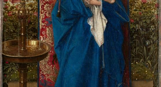 Jan van Eyck (Maaseik 1380/ 1400 - Bruges 1441) Madonna am Springbrunnen 1439 19 x 12 cm © KMSKA – Lukas-Art in Flanders vzw, foto Hugo Maertens