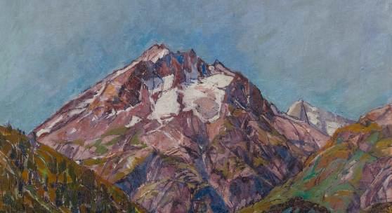 3045 ALBERTO GIACOMETTI (Borgonovo 1901 – 1966 Chur) Monte del Forno. Um 1923/25. Öl auf Leinwand. 60 x 50 cm. Ergebnis: CHF 940 500