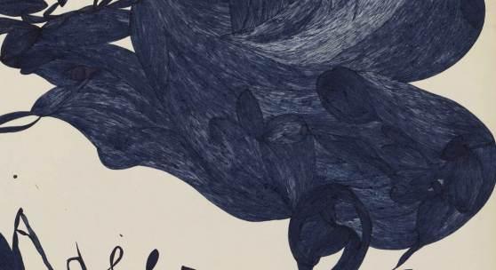 Laure Pigeon, Lili, Adèle, Pierre, ohne Datum Tinte auf Papier ; 49 x 64 cm © Collection de l'Art Brut, Lausanne Foto : Marie Humair, Atelier de numérisation – Ville de Lausanne