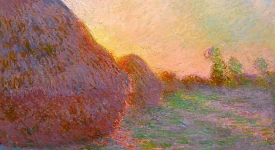 Abbildung: Claude Monet, Getreideschober, 1890, Öl auf Leinwand, 73 x 92,5 cm, Museum Barberini
