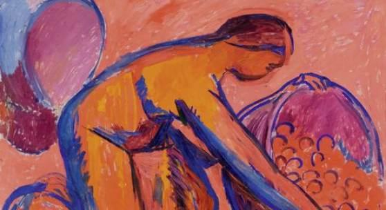 3082 CUNO AMIET Die Obsternte (sogenannte Wassmer-Fassung). 1912. Öl auf Leinwand. 103 × 115,5 cm. CHF 600 000 / 800 000