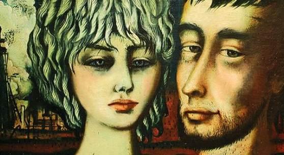 Hans Robert Pippal Wien 1915 – 1998 Wien La Dolce Vita Öl auf Platte signiert und datiert 1964, WK HRP 694 16,7 x 32,3 cm