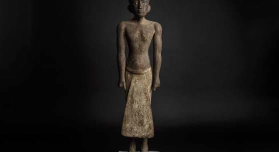 486 HermHist 89 ägyptische Holzstatue