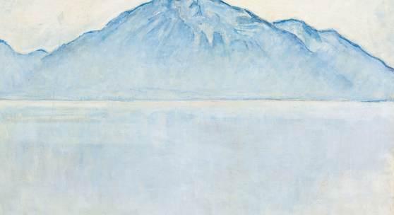 FERDINAND HODLER Thunersee mit Niesen. 1912-13. Öl auf Leinwand. 61,5 x 85,5 cm. Ergebnis: CHF 4 Mio.