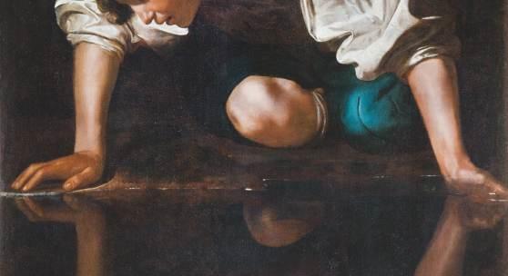 Abbildung: Caravaggio, Narziss, 1598/99 © Photo: Gallerie Nazionali di Arte Antica di Roma – Bibliotheca Hertziana, Istituto Max Planck per la storia dell'arte / Mauro Coen