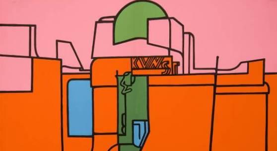 Valerio Adami, Ohne Titel, 1970, Lithographie, 37,7 x 27,8 cm, Stiftung Museum Kunstpalast, Düsseldorf, Stiftung Sammlung Kemp, ©Valerio Adami / VG Bild-Kunst, Bonn 2013, Fotograf: Heinz Vontin