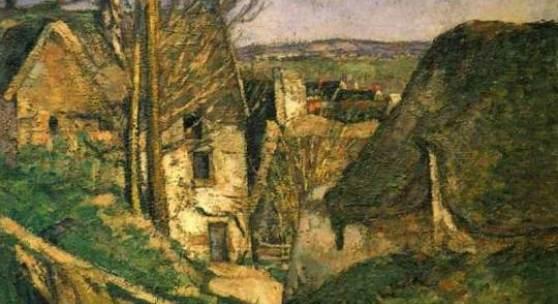 """Cezanne Paul - Cézanne Meister des 19.Jahrhunderts Das Haus des Gehenkten bei Auvers 1874; Musee d Orsay in Paris. Das Gemälde """"Das Haus des Gehenkten bei Auvers"""" von Paul Cezanne als hochwertige, handgemalte Ölgemälde-Replikation. Quelle: www.oel-bild.de"""
