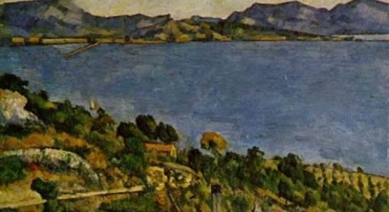 """Cezanne, Paul  Das Meer bei lEstaque Impressionismus   Das Gemälde """"Das Meer bei lEstaque"""" von Paul Cezanne als hochwertige, handgemalte Ölgemälde-Replikation. Quelle: www.oel-bild.de."""