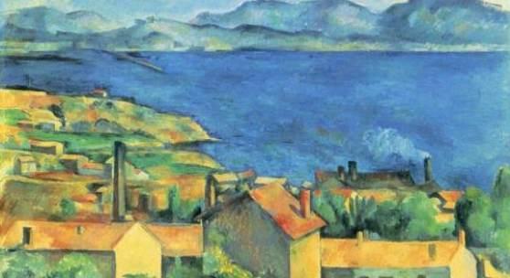 """Cezanne, Paul  Die Bucht von Marseille Impressionismus   Das Gemälde """"Die Bucht von Marseille"""" von Paul Cezanne als hochwertige, handgemalte Ölgemälde-Replikation. Originalformat: 80 x 99,6 cm. Quelle: www.oel-bild.de"""