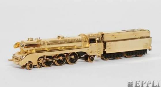 MÄRKLIN goldene Dampflokomotive mit Tender, Spur Z, 1997 Aufrufpreis: 6.240,00 €