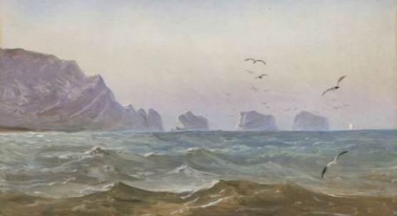 006   Carl Gustav Carus, Seestück mit Felsen (The Needles, Isle of Wight, im Gegenlicht). 1844.