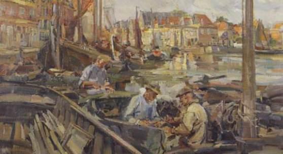 FAHRINGER, Carl  1874 – 1952 Hafen in Hoorn