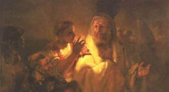 Rembrandt  Apostel Petrus verleugnet Christus Barock   Diese Bilder-Vorlage Apostel Petrus verleugnet Christus Von Rembrandt als hochwertiges, handgemaltes Gemälde. Wir malen Ihr Ölgemälde nach Ihrer Vorlage.