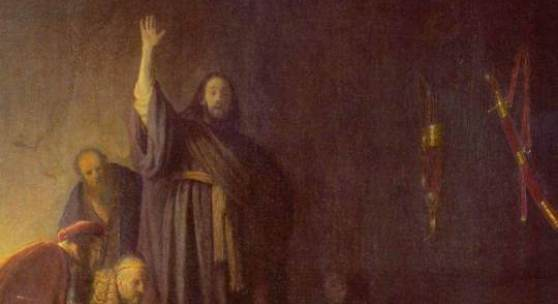 Rembrandt  Auferweckung des Lazarus Barock   Diese Bilder-Vorlage Auferweckung des Lazarus Von Rembrandt als hochwertiges, handgemaltes Gemälde. Wir malen Ihr Ölgemälde nach Ihrer Vorlage.