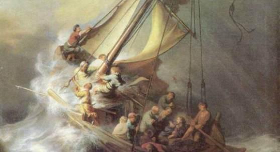 Rembrandt  Christus im Sturm auf dem See von Galilea Barock   Diese Bilder-Vorlage Christus im Sturm auf dem See von Galilea Von Rembrandt als hochwertiges, handgemaltes Gemälde. Wir malen Ihr Ölgemälde nach Ihrer Vorlage. Bildmaterial: www.oel-bild.de