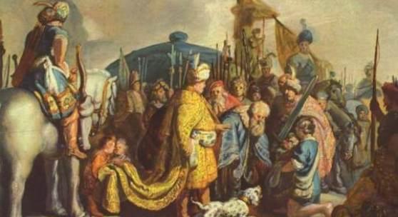 Rembrandt Werke, David mit dem Haupt Goliaths vor Saul, 1625 Quelle: www.oel-bild.de