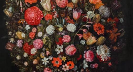 JAN BRUEGHEL DER JÜNGERE Blumenstrauß in einer skulptierten Vase SCHÄTZPREIS € 500.000 - 1.000.000, verkauft um/sold for € 2,6 Mio.