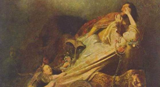 Rembrandt Werke, Der Raub der Proserpina ca. 1632. Das Bild wurde vermutlich durch Huygens' Vermittlung für holländischen Hof angefertigt. Quelle: www.oel-bild.de