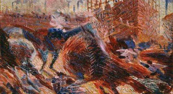 Umberto Boccioni Study for The City Rises 1910