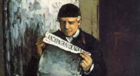 "Cezanne Paul - Cézanne Portraet des Louis Auguste Cezanne Das Gemälde ""Portraet des Louis Auguste Cezanne"" von Paul Cezanne als hochwertige, handgemalte Ölgemälde-Replikation. Quelle: www.oel-bild.de."
