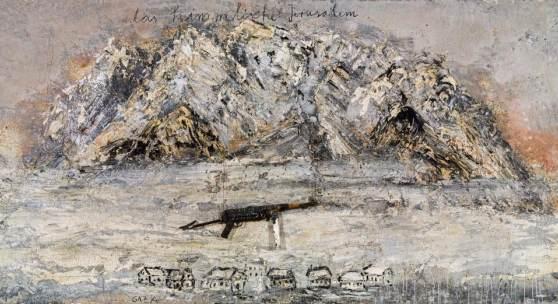 Anselm Kiefer, Das himmlische Jerusalem, 2011, Öl, Emulsion, Acryl, Schellack, Kohle und Metall auf Leinwand; 190 × 380 cm, EUR 350.000-700.000