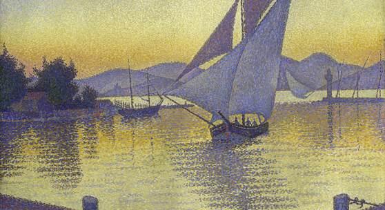Bild: Paul Signac, Der Hafen bei Sonnenuntergang, 1892, Hasso Plattner Foundation