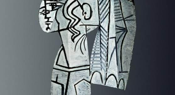 Pablo Picasso Sylvette, 1954 beidseitige Ölmalerei auf ausgeschnittenem Metallblech 69,9 x 47 x 1 cm © Succession Picasso/ Bildrecht, Wien, 2017