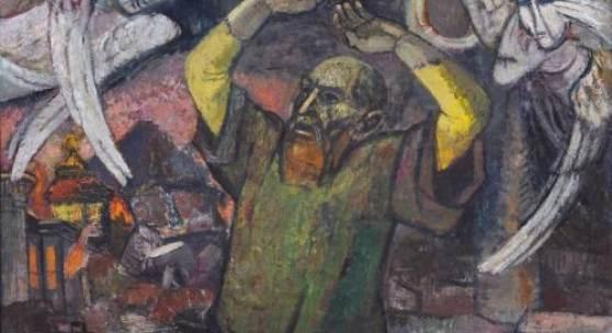 """Hans Jüchser """"Das Gesicht des Jesaja"""". 1954. 18500 €"""