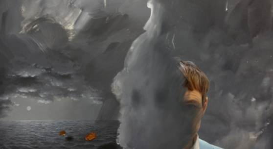 Ashley Hans Scheirl, Ob_Scenery 2, 2018, Acryl auf Leinwand,  200 x 150 cm (Detail des digital_analogen Entwurf's) Foto: Courtesy of the artist