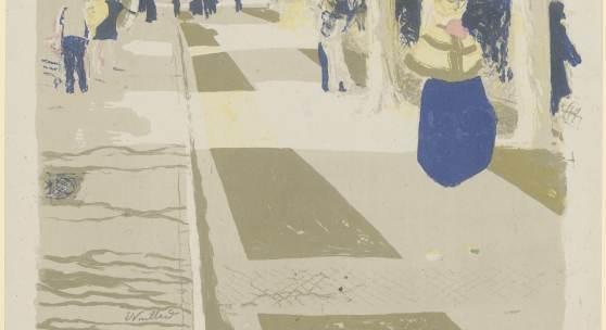 Édouard Vuillard. Einblicke in die Lithowerkstatt  Édouard Vuillard, L'Avenue, um 1899, Lithographie, 332 × 450 mm (Blattmaß)  © Staatliche Graphische Sammlung München