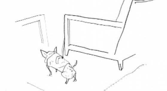 Per Dybvig, Small Dog Bar Hotel Sacher 12.2.19, 2019, Bleistift auf Papier Per Dybvig, Small Dog Bar Hotel Sacher 12.2.19, 2019, Bleistift auf Papier Foto: Courtesy of the artist & Christine König Galerie, Wien