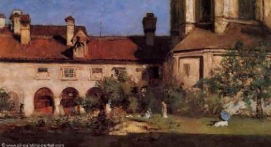 """Chase, William Merritt  Das Kloster Impressionismus   Das Gemälde """"Das Kloster"""" von Chase, William Merritt als hochwertige, handgemalte Ölgemälde-Replikation. © www.oel-bild.de"""
