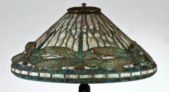 452 - Bedeutende Tischlampe mit Libellen ''Dragonfly'' iffany Studios, New York, um 1900  Katalogpreis: 15.000 - 20.000 €