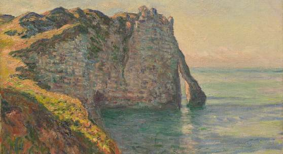 Bild: Claude Monet, The Cliff and the Porte d´Aval, 1885, Private Collection