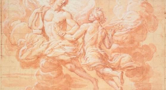 Giovanni Maria Morandi; Apollo und Hyacinthus; Wallraf-Richartz-Museum & Fondation Corboud, Graphische Sammlung (Z 02072, Köln)