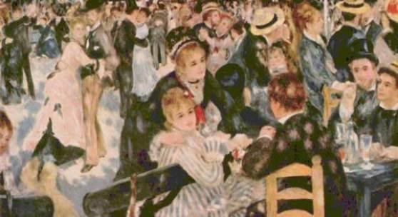(Cezanne Paul - Cézanne) Impressionisten Renoir, Pierre Auguste, Tanz in Moulin, Le Moulin de la Galette, 1876, Paris, Musée d Orsay. Quelle: www.oel-bild.de