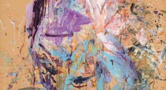 Martha Jungwirth* (Wien 1940 geb.) o.T., 1990 Mischtechnik auf dünnem Karton auf Leinwand; ungerahmt; 186 x 142 cm Signiert und datiert rechts unten: Martha Jungwirth 90  Schätzpreis € 40.000 - 60.000  Meistbot € 80.000 (ohne Aufgeld) verkauft um / sold for € 102.400