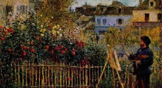 """Renoir, Pierre Auguste  Monet beim Malen Impressionismus   Das Gemälde """"Monet beim Malen"""" von Pierre Auguste Renoir als hochwertige, handgemalte Ölgemälde-Replikation. Quelle: www.oel-bild.de"""