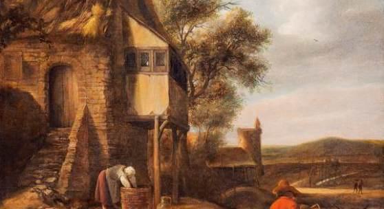 Abb. 89171: Jan Steen, Bäuerliche Szene. Öl auf Leinwand. H. 56,5, B. 46,5 cm. Beurteilung vom Rijksbureau voor Kunsthistorische Documentatie (RKD) liegt vor. Limit 25.000 €.