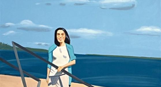 "Alex Katz, Acesion, 2002, oil on cloth, 65.9""X90.2"", Mark Borghi Fine Art, Palm Beach, New York, Bridgehampton"