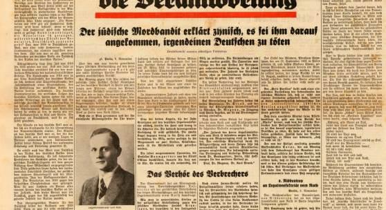 Völkischer Beobachter, 9.11.1938 (c) Sammlung Deutsches Zeitungsmuseum (Stiftung Saarländischer Kulturbesitz)