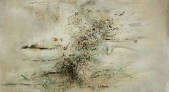 Zao Wou-Ki, Untitled, 1958, oil on canvas, 118.1 x 166.4 cm Estimate: HK$60,000,000 – 80,000,000 / Approx. US$7,700,000 – 10,000,000 Property of the Solomon R. Guggenheim Museum, sold to benefit the art fund