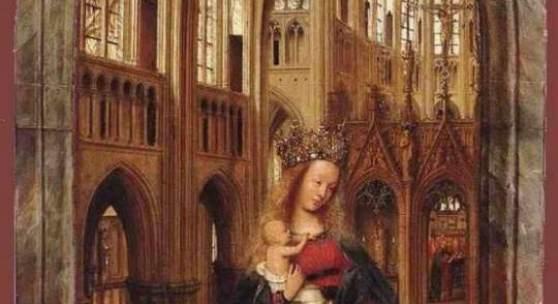"""Eyck, Jan van  Madonna in the Church Altniederlaendische Malerei   Das Gemälde """"Madonna in the Church"""" von Eyck, Jan van als hochwertige, handgemalte Ölgemälde-Replikation. Bildmaterial: www.oel-bild.de"""